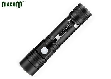 Zoom Function Micro Usb Rechargeable Flashlight With CREE XML T6