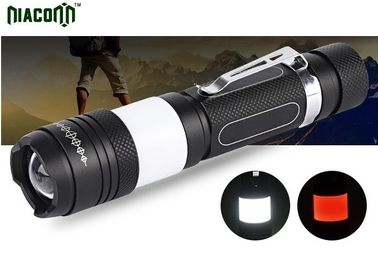 USB Small Powerful Led Torch , 10w Small Torch Light With Red COB