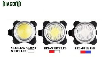 China Rechargeable USB Bike Tail Light 20-80lm Brightness White / Red / Blue Light factory
