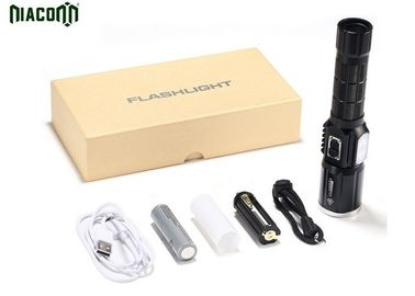 USB Rechargeable Tactical Led Flashlight With CREE XML And Power Bank Function