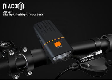 CREE Xml 3000 Lumen USB Bike Light Aluminum 30W Power Bank For Bike Headlight
