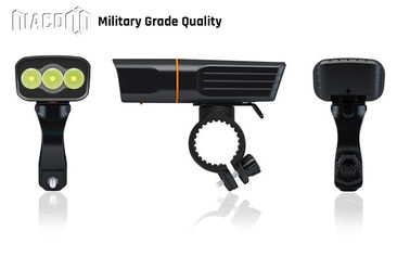 Durable Led USB Rechargeable Bike Light Set Aluminum Material 30W CREE Xml