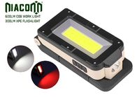 COB Rechargeable Led Headlamp , Magnet Base Led Headlamp Flashlight PVC Material