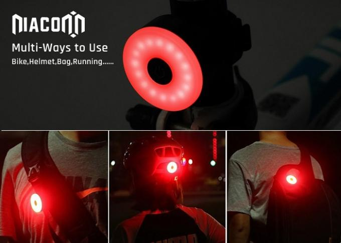 Red Led USB Rechargeable Bike Tail Light